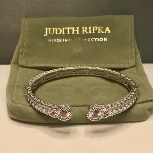 Judith Ripka Beautiful 925 Clear Stone Cuff